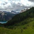 Endless mountain peaks above the vibrant Marvel Lake.- Lake Magog Hike via Bryant Creek + Wonder Pass