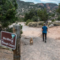 The Mica Mine Trail is closed to motorized vehicles.- Mica Mine Trail Hike