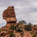 A standout rock formation in the canyon.- Mica Mine Trail Hike