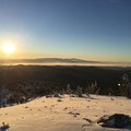 Snow and a sunset view from Tumalo Mountain.- Tumalo Mountain Snowshoe