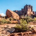 Walking among the giants in Arches National Park.- Park Avenue Hike