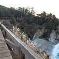 The falls are easily seen from the boardwalk.- McWay Falls