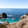 The first view of McWay Cove.- McWay Falls