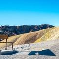 Viewing bench at Zabriskie Point.- Zabriskie Point