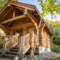 There are 14 log cabins.- Riverside Resort Campground