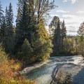 Fitzsimmons Creek.- Riverside Resort Campground