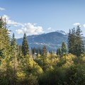 The view of Whistler Mountain from Riverside Resort.- Riverside Resort Campground