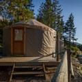 A yurt at Riverside Resort.- Riverside Resort Campground
