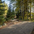 A site in the E loop.- Riverside Resort Campground