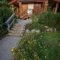 The washrooms have heated floors!- Riverside Resort Campground