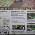 Be bear aware.- Riverside Resort Campground