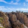 The bridge over Hell's Backbone.- Hell's Backbone Scenic Drive