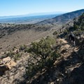 The route up the trail is rocky and steep.- Kokopelli Loops Mountain Bike Trails: Mack Ridge