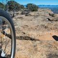 The rock at the top of the trail.- Kokopelli Loops Mountain Bike Trails: Mack Ridge