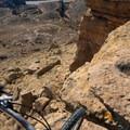 Steve's loop can be seen from above.- Kokopelli Loops Mountain Bike Trails: Mack Ridge