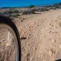 Fast hard packed dirt at the top of the trail.- Kokopelli Loops Mountain Bike Trails: Mack Ridge