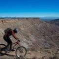 The view on the way up.- Kokopelli Loops Mountain Bike Trails: Mack Ridge