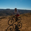 The trail at the top is wide open.- Kokopelli Loops Mountain Bike Trails: Mack Ridge