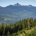 View to the southeast.- Whistler RV Park + Campground