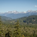 View to the north.- Whistler RV Park + Campground