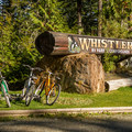 Sign at the entrance.- Whistler RV Park + Campground