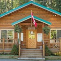 Whistler RV Park and Campground office.- Whistler RV Park + Campground