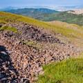 Following faint paths along the Delano Peak.- Delano Peak Hike