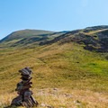 What the rock cairns lack in number, they make up for in style.- Delano Peak Hike