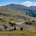 Delano Peak seen from Skyline Trail.- Delano Peak Hike