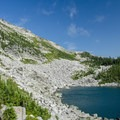 Lower Ball Lake. Trail ends here and the infamous bushwhack starts.- Pacific Northwest National Scenic Trail Section 5