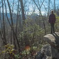 A hint of the view to come can be seen in late fall through early spring.- Looking Glass Rock Hike