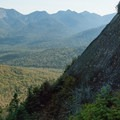 A small portion of Big Slide's namesake landslide.- Big Slide Via The Brothers