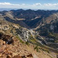 Overlooking Little Cottonwood Canyon.  - Mount Superior + Monte Cristo Hike