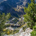 Looking down at Snowbird from above the Hellgate Cliffs.  - Mount Superior + Monte Cristo Hike