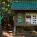 Signage in the parking area.- Brohm Lake Interpretive Forest Hike