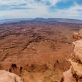 Canyons snaking for miles.- Needles Overlook