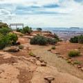 Easy trails crisscross the overlook area.- Needles Overlook