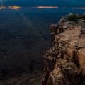 Needles Overlook beneath a sunset storm.- Needles Overlook