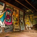 Some of the train cars have artwork inside them as well.- Whistler Train Wreck Hike