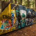 More artwork at the Whistler Train Wreck.- Whistler Train Wreck Hike
