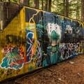 More artwork at the Whistler Train Wreck.- Whistler Train Wreck Hike