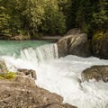 The waterfall on the Cheakamus River known to kayakers as Balls Falls.- Whistler Train Wreck Hike