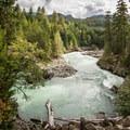 Cheakamus River.- Whistler Train Wreck Hike