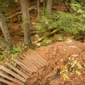 This trail was built as a mountain bike trail, but nowadays it is used much more by hikers.- Whistler Train Wreck Hike