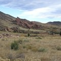View of lower Red Rocks.- Castle Trail Hike