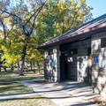 Restrooms in Green River State Park Campground.- Green River State Park Campground