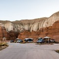 The campground roads are paved and wide.- Goblin Valley Campground