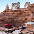 The setting for many of the sites is spectacular.- Goblin Valley Campground