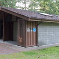 Restrooms with showers.- Porpoise Bay Provincial Park Campground