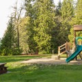 The playground near the beach.- Porpoise Bay Provincial Park Campground